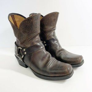 Ariat Brown Leather Biker Harness Boots 10 Western